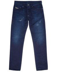 Diesel Distressed Slim Fit Jeans - Lyst