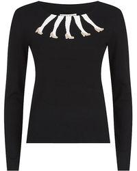 Alice + Olivia Intarsia Legs Sweater - Lyst