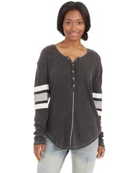Free People Game Time Henley Tee - Lyst