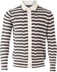 Side Slope - Striped Cardigan - Lyst