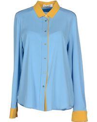 Jil Sander Shirt blue - Lyst