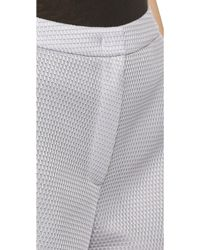 O'2nd - 1 By Waffle Mesh Track Shorts - Light Grey - Lyst