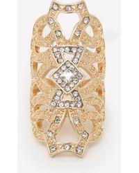 Bebe - Graphic Impact Fashion Ring - Lyst