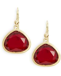 Karen Kane - Faceted Stone Drop Earrings - Lyst