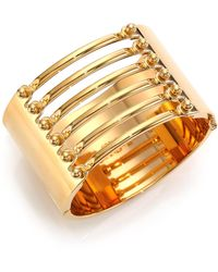Chloé Frances Bar Cuff Bracelet gold - Lyst