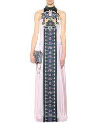 Mary Katrantzou Stepa Pleated Wool Gown - Lyst