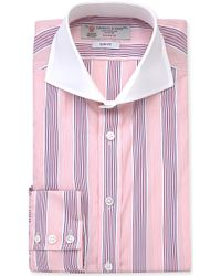 Turnbull & Asser Slim Stripe-Print Cotton Shirt - For Men - Lyst