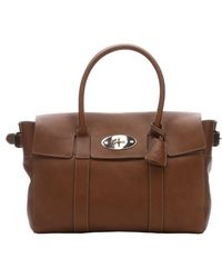 Mulberry Oak Leather 'Bayswater Buckle' Top Handle Bag - Lyst