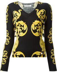 Versace Baroque Print Sweater - Lyst