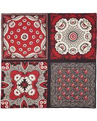 Valentino Mix Floral Print Silk Scarf multicolor - Lyst