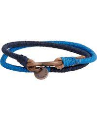 Caputo & Co. Lacing Cord & Leather Wrap Bracelet - Lyst