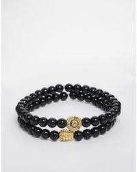Love Bullets - Lovebullets Micro Onyx Bracelet In 2 Pack - Lyst