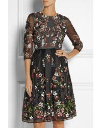 Needle & Thread Orchard Sequin-Embellished Silk-Organza Dress - Lyst