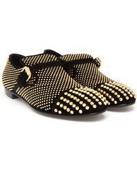 Giuseppe Zanotti Studded Velour Slip-On Loafers - Lyst