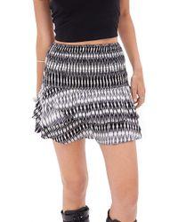 Forever 21 Smocked Tie-Dye Skirt - Lyst