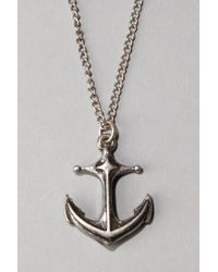 Urban Outfitters - Anchor Pendant Necklace - Lyst