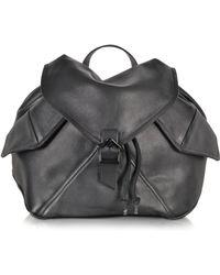 Carven - Plain Black Leather Backpack - Lyst
