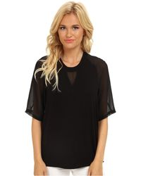 BCBGeneration Knit Tee W Chiffon Sleeves - Lyst