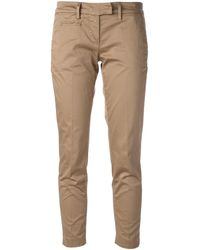 Dondup Tailored Cropped Trouser - Lyst