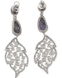 Wendy Yue | Carved Sapphire And Opal Earrings | Lyst