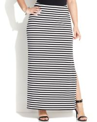 Michael Kors Michael Plus Size Striped Maxi Skirt - Lyst