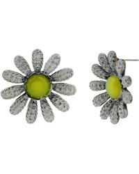 Betsey Johnson Daisy Flower Stud Earrings - Lyst