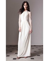 Alice By Temperley Long Draped Amber Dress beige - Lyst