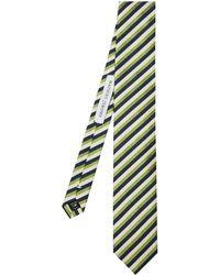 Mathieu Jerome - Striped-jacquard Silk Tie - Lyst