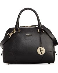 Furla Black Dolly Satchel - Lyst