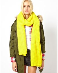 Pepe Jeans - Neon Oversized Scarf - Lyst