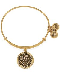 ALEX AND ANI - Endless Knot Ii Expandable Wire Bangle - Lyst