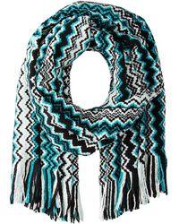Missoni Green scarves - Lyst