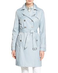 Laundry by Shelli Segal | Double Breasted Trench Coat | Lyst