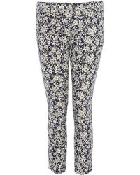Uniqlo - Maddsie Navy Printed Cropped Legging Trousers - Lyst