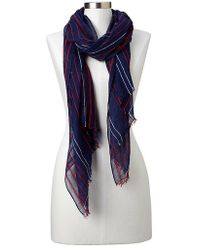 Gap Embroidered Stripe Scarf - Lyst