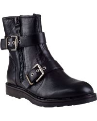Luxury Rebel | Cleary Biker Boot Black Leather | Lyst