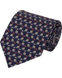 Ferragamo Dog  Shoe Print Neck Tie - Lyst
