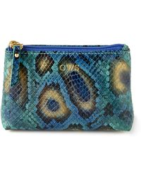 Graphic Image - Blue Python-Print Cosmetic Case - Lyst