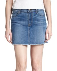 Koral High-Rise Denim Mini Skirt - Lyst