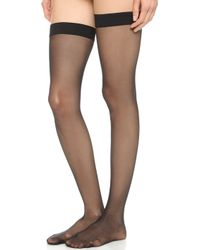 Wolford Individual 10 Stay Up Tights  - Lyst