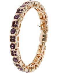 Cara Purple Stone Bangle - Lyst