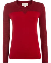 Linea Merino Notch Neck Jumper - Lyst
