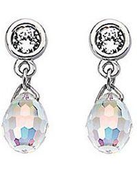 Swarovski - Aurora Borealis Crystal Drop Earrings - Lyst
