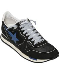 Golden Goose Deluxe Brand Nylon And Suede Running Sneakers - Lyst