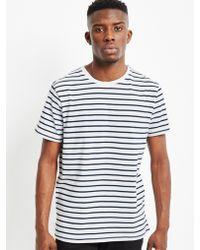 The Idle Man | Stripe T-shirt White | Lyst