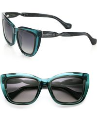 Balenciaga Twisted 55Mm Square Sunglasses blue - Lyst