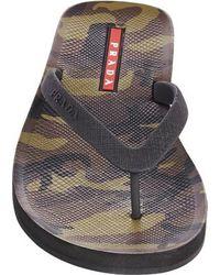 Prada Camo Flip Flops - Lyst