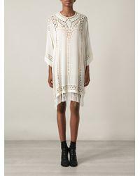 Etoile Isabel Marant White Enery Dress - Lyst