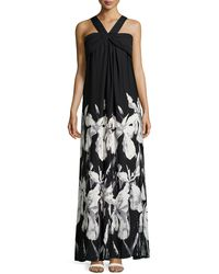 Missoni Draped Floral-Print Gown floral - Lyst