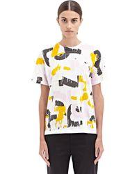 Jil Sander New Season - Womens Crew Neck Printed T-Shirt - Lyst
